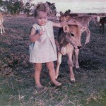 Vacen Taylor - me with a poddy calf