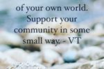 Be More Than… Support Your Community #Volunteering